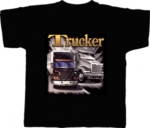 T-shirt homme manches courtes AMERICAN TRUCKER Camion routier USA  - 6271