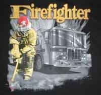 T-shirt homme manches courtes - Pompiers USA Firefighter - 11443