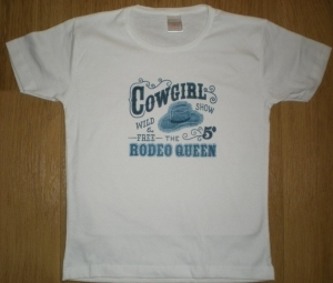 T-shirt femme manches courtes - Country - Cowgirl Rodeo Queen - 1244
