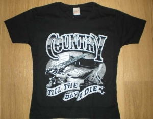 T-shirt FEMME manches courtes - Country Music Till the day I die - Guitare - 13277