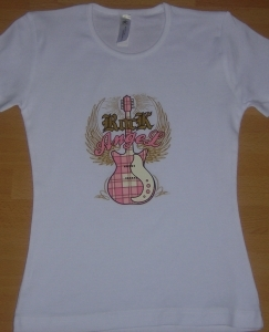 T-shirt femme manches courtes - Rock Angel - Guitare country - 3220