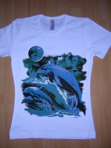 T-shirt femme manches courtes - Dauphins midnight - 10856