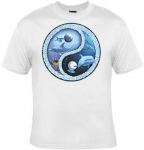 T-shirt femme manches courtes - Dauphins Yin Yang - 10166