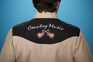 Chemise homme western country music - ELY - beige - guitare