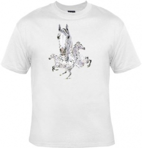 T-shirt HOMME manches courtes -  Cheval chevaux Appaloosa - 6475