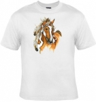 T-shirt femme manches courtes - Cheval - american indian horse - 12749