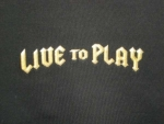 T-shirt homme manches courtes - Guitare rock LIVE TO PLAY impression recto-verso - 6534