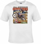 T-shirt homme manches courtes - Moto-cross American Outfitters - 6186 - blanc