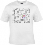 T-shirt femme manches courtes - LOVE - fashion vintage - 10080 - blanc