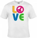 T-shirt homme manches courtes - PEACE and LOVE - 12702