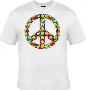 10294 T Peace Shirt Love Smiley Homme Manches Courtes And xBotrCQshd