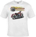 T-shirt FEMME manches courtes - Moto route 66 USA Biker - Americas highway - 3946