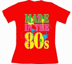 T-shirt femme manches courtes - Made in the 80's - Années 1980 Disco néon - 11371