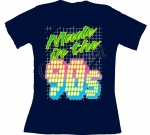 T-shirt femme manches courtes - Made in the 90's - Années 1990 néon - Disco - Danse - 11226