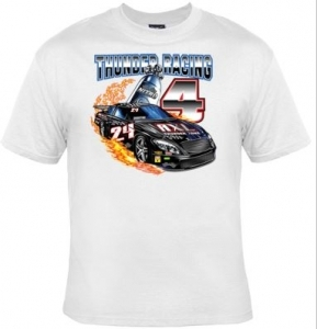 T-shirt homme manches courtes voiture course Tuning - Thunder racing - 9154