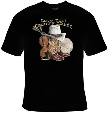 T-shirt homme manches courtes - Love that Country Music - 10865