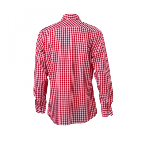 Carreaux Jn617 Manches Chemise Rouge Longues Vichy Homme Ygybv6f7