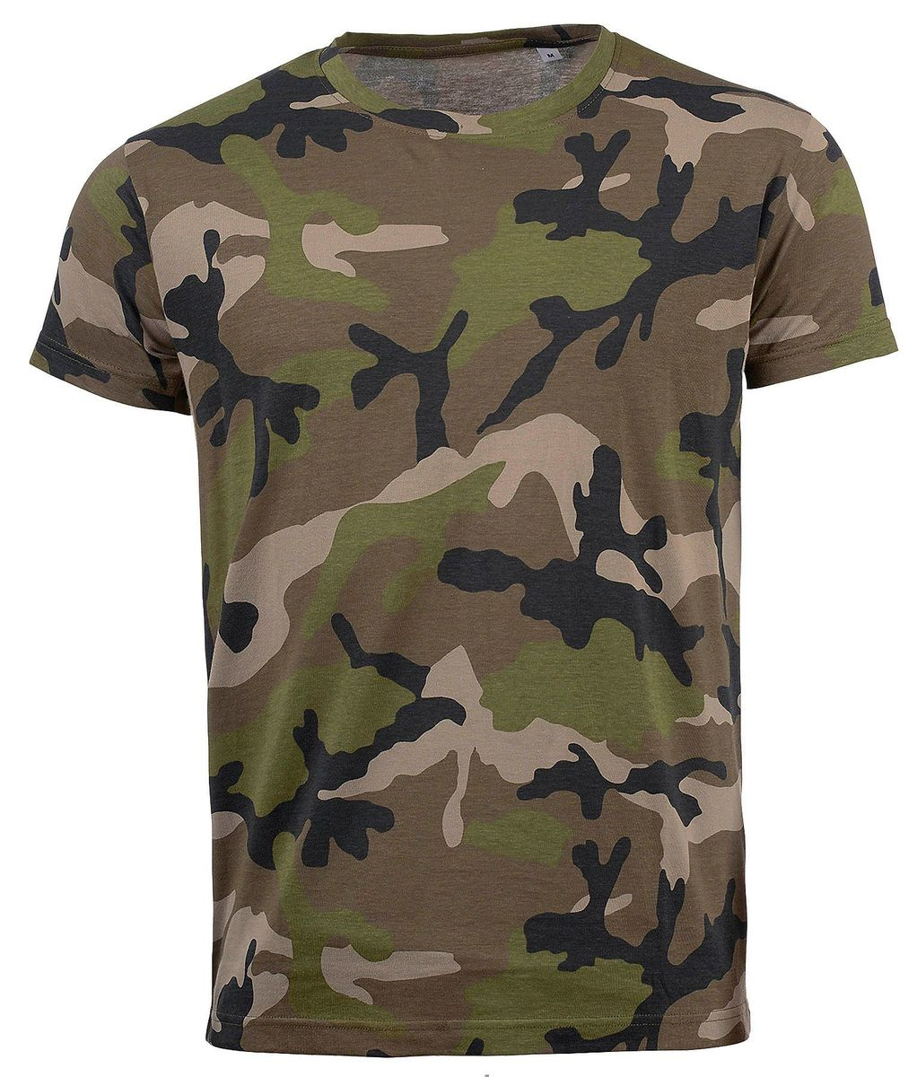 T-shirt manches courtes camouflage HOMME - 01188 - vert army camo