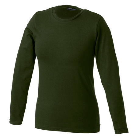 T-shirt stretch femme manches longues - JN054 - vert olive