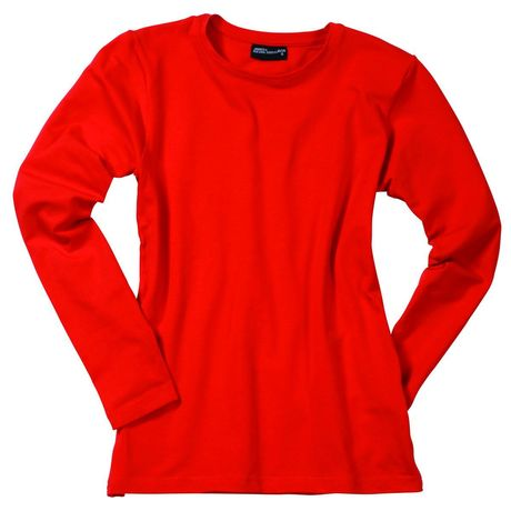 T-shirt stretch femme manches longues - JN054 - rouge