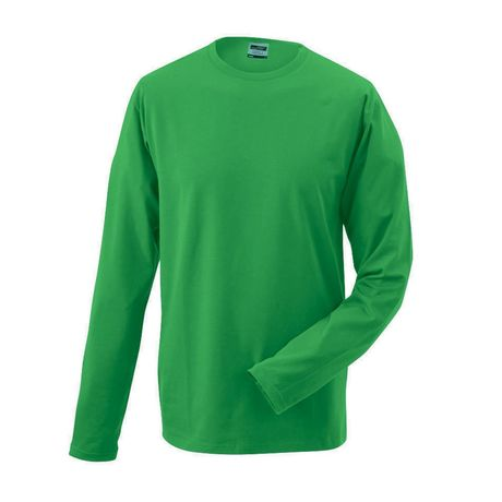 T-shirt stretch homme manches longues - JN056 - vert