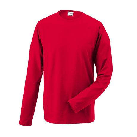 T-shirt stretch homme manches longues - JN056 - rouge