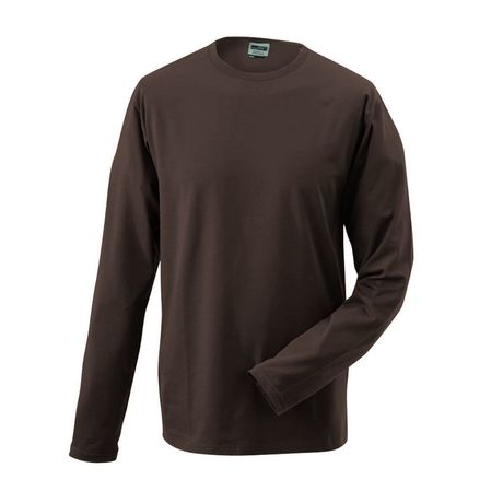 T-shirt stretch homme manches longues - JN056 - marron