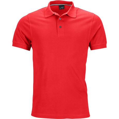Polo homme manches courtes JN708 - rouge clair