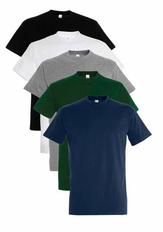Lot 5 t-shirts manches courtes - Homme - multicolore