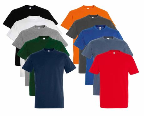 Lot 10 t-shirts manches courtes - Homme - multicolore