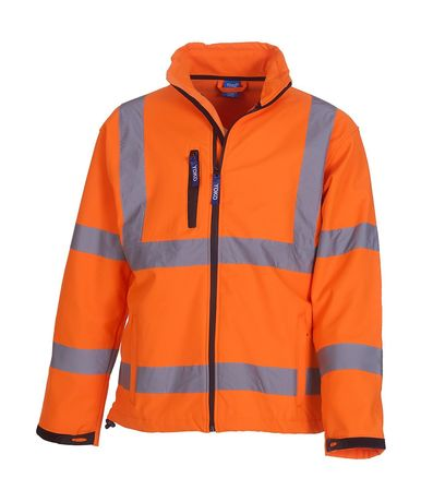 Veste softshell de sécurité HVK09 - orange fluo