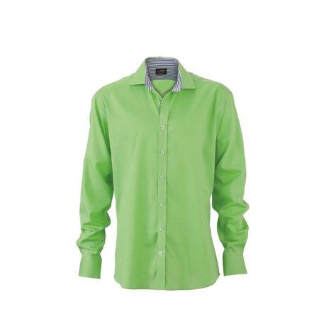 chemise manches longues homme - JN634 - vert