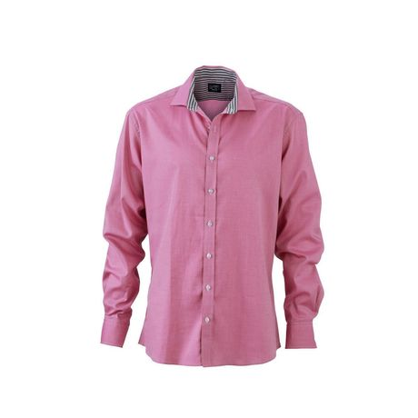 chemise manches longues homme - JN634 - rose pourpre