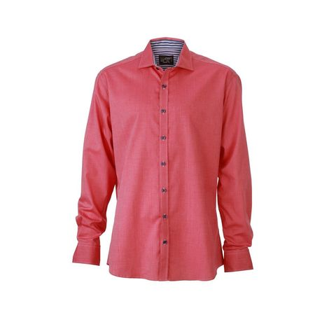 chemise manches longues homme - JN634 - rouge
