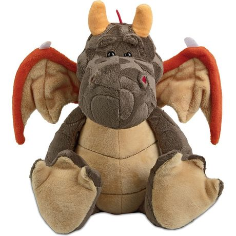 Peluche dragon 60891 marron beige et orange