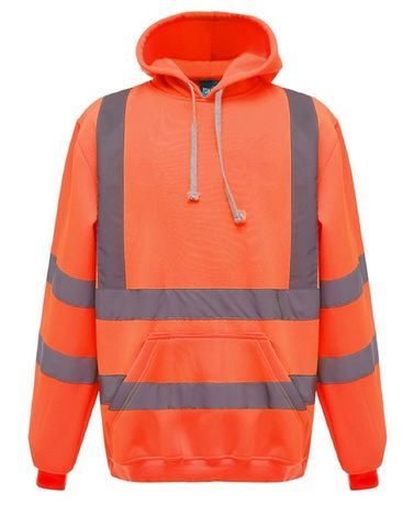 Sweat-shirt de sécurité à capuche orange fluo - HVK05