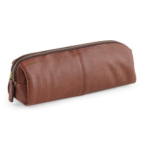 Trousse simili cuir - QD887 - marron