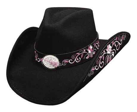 Chapeau country Rockin to the beat - 0632BL - noir