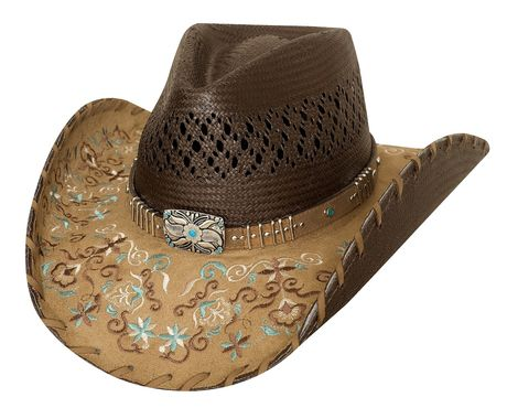 Chapeau country Never give up  - 2784 - noir