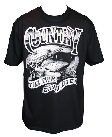 T-shirt homme manches courtes - country 13277 - noir