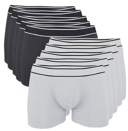Lot 10 Boxers shorty Homme K800 - coton - noir et blanc