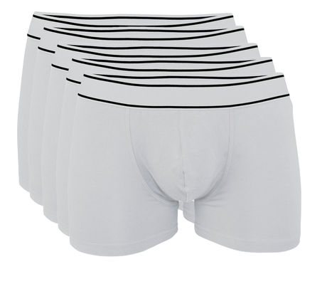 Lot 5 Boxers shorty Homme K800 - coton - blanc