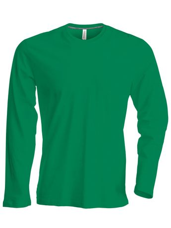 T-shirt manches longues col rond - K359 - vert kelly - homme