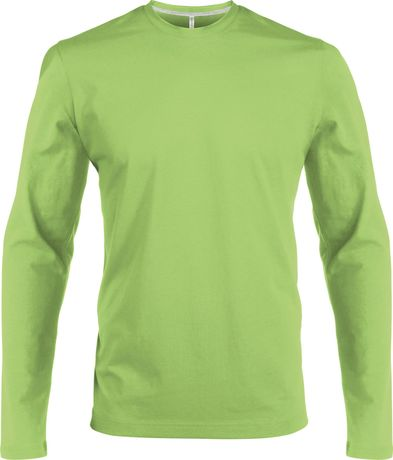 T-shirt manches longues col rond - K359 - vert lime - homme