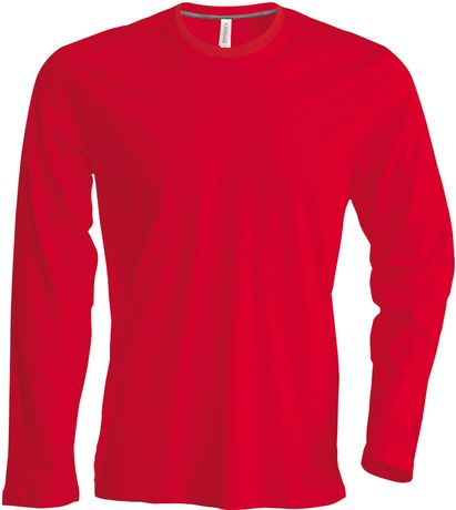 T-shirt manches longues col rond - K359 - rouge - homme