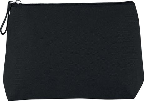 Trousse en coton canvas - KI0724 - noir