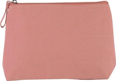 Trousse en coton canvas - KI0724 - rose clair