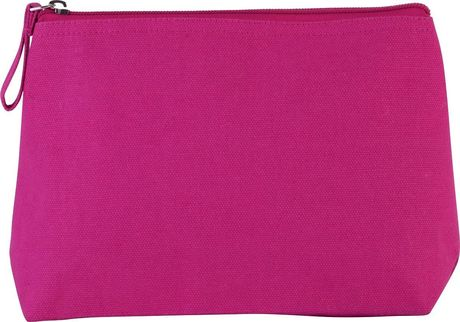 Trousse en coton canvas - KI0724 - rose fuchsia