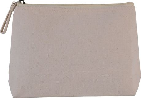 Trousse en coton canvas - KI0724 - naturel
