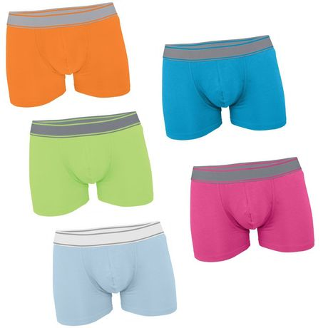 Lot 5 Boxers shorty Homme K800 - coton - multicolores